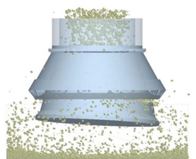 离散元在圆锥破碎机模拟中的应用